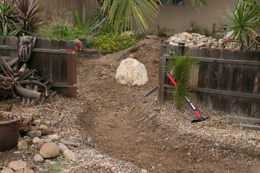 excavation for creek bed