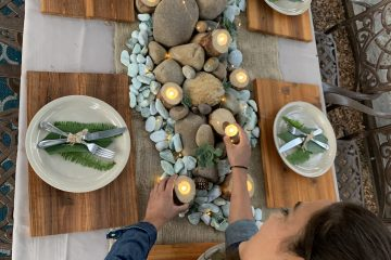 Fall tablescape from garden with Sara Bendrick