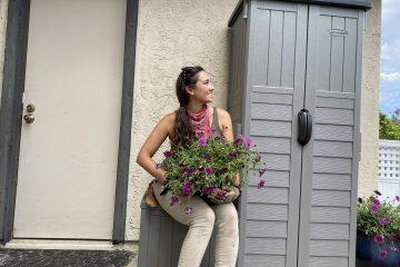sara with plant